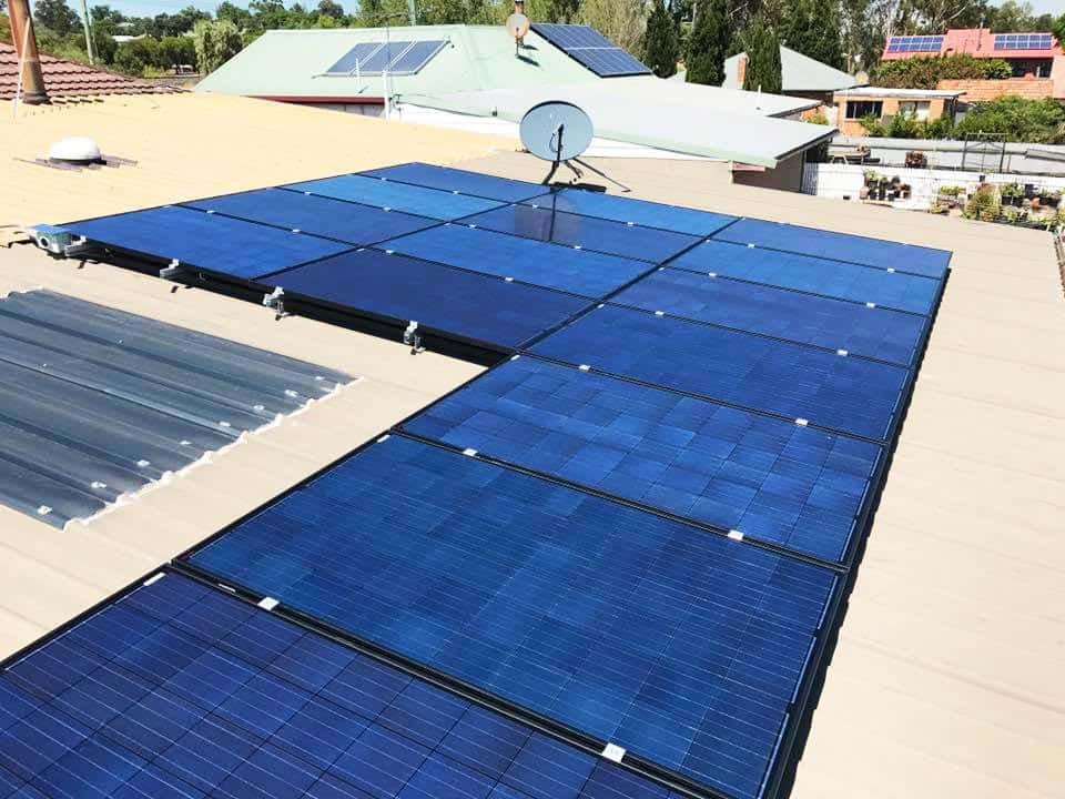 house roof with SolaXs solar panel system